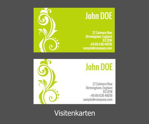 Visitenkarten 350gr 4 4 Farbiger Druck